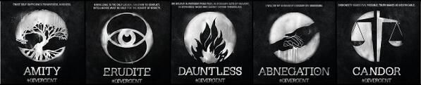 All the official Divergent faction symbols!