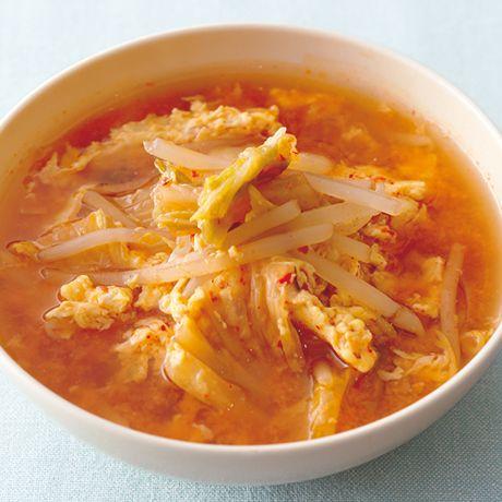 もやしとキムチのかきたま汁 by下条美緒さんの料理レシピ - レタスクラブニュース