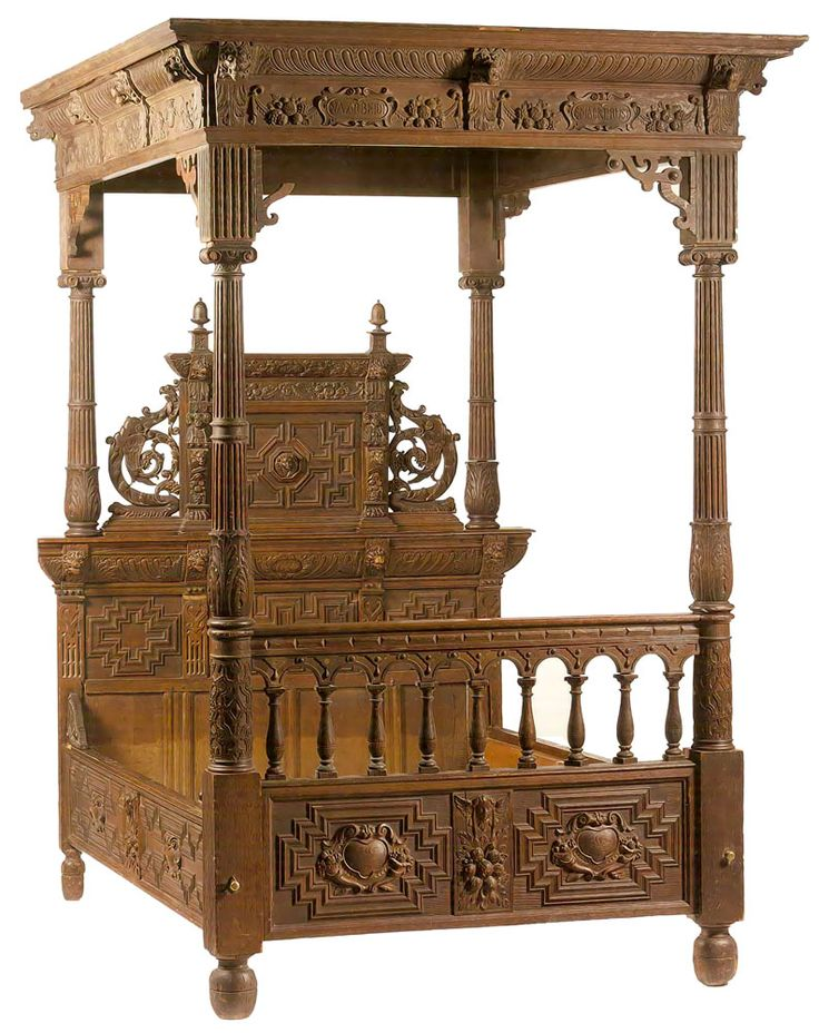 luxury rococo four poster bed Google Search Medieval