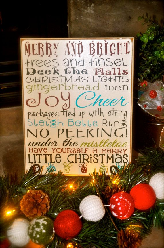 Darling Christmas Subway Art Wood sign! The perfect addition to your holiday decor!   3 sizes available to purchase.   http://www.etsy.com/ca/listing/169815201/christmas-subway-art-vinyl-lettering?ref=listing-shop-header-2