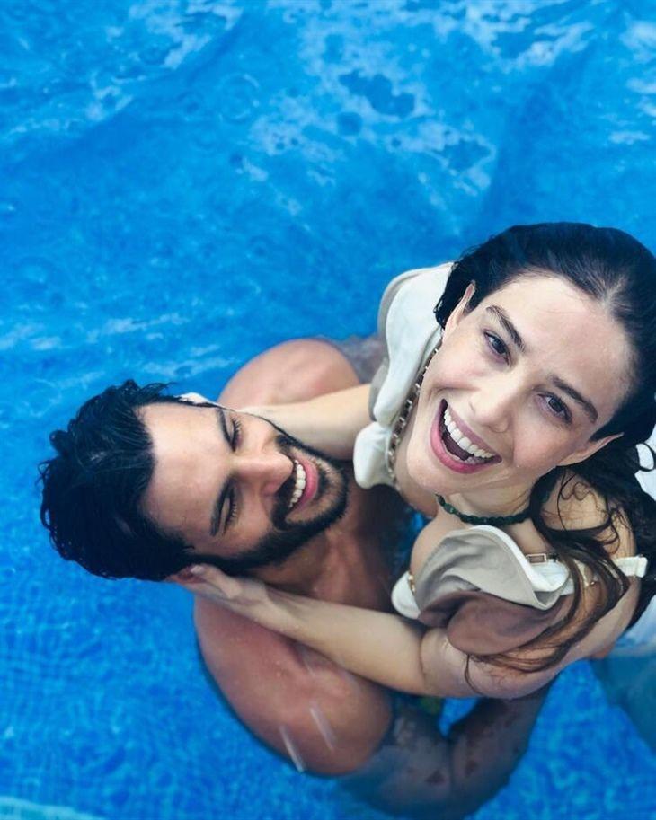 Serkan Cayoglu We Are Growing Together With Ozge Gurel Handsome Actors Celebrity Couples Turkish Actors