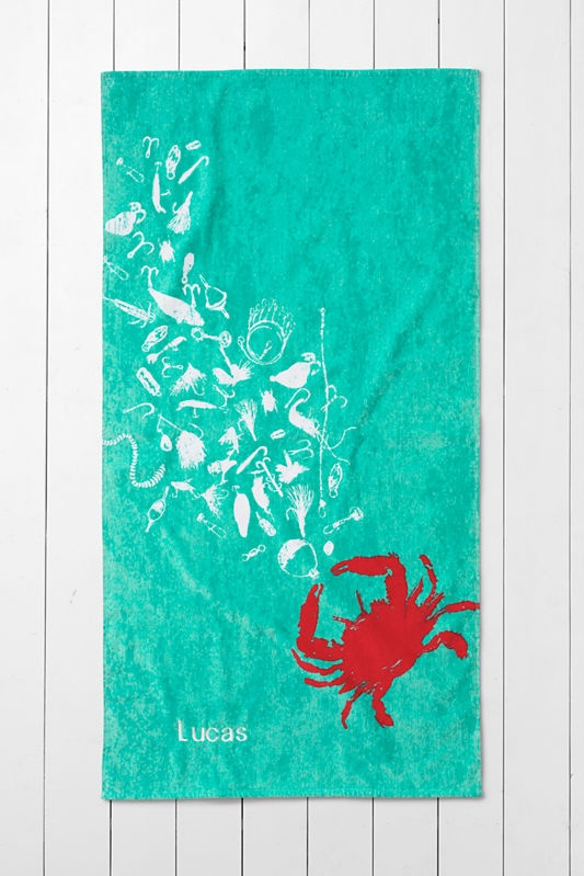 Lands' End Kids' Crab Beach Towel- love this fun print for kids (and adults)!