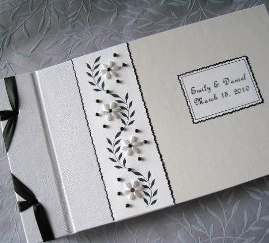 black and white guest book by Daisyblu