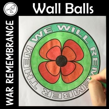 These 'wall balls' look great displayed on the classroom wall. They can be used for war remembrance days such as: ♦ Anzac Day ♦ Remembrance Day ♦ Memorial Day ♦ Veterans Day ♦ Armistice Day Colour, cut and display on the wall.