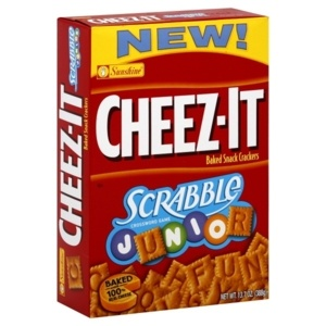 CHEEZ-IT: Scrabble Junior: Play Scrabble with tiles made of CHEEZ-IT!