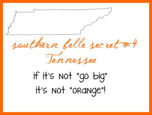 This is not always a southern belle thing but a way of life in east Tennessee lol