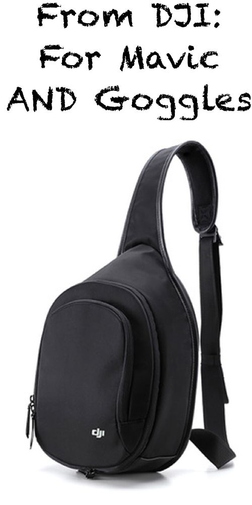 Now there is finally an original bag from DJI available for both, the DJI Mavic Pro and the DJI Goggles!  Check accessories: http://click.dji.com/AAdm-G6risRtCcOOaiJj?pm=link