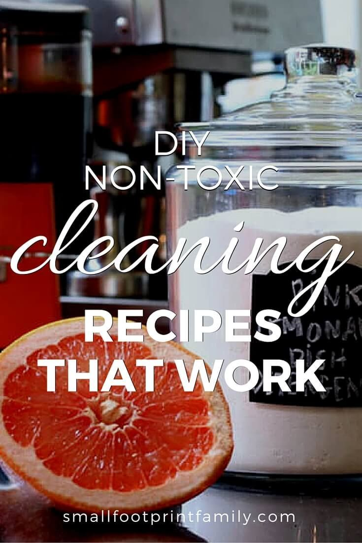 Rather than buying toxic products off the shelf you can make your own non toxic cleaning recipes from inexpensive ingredients that you have in your kitchen. My favorite DIY book will show you how to make cleaning products that actually work!