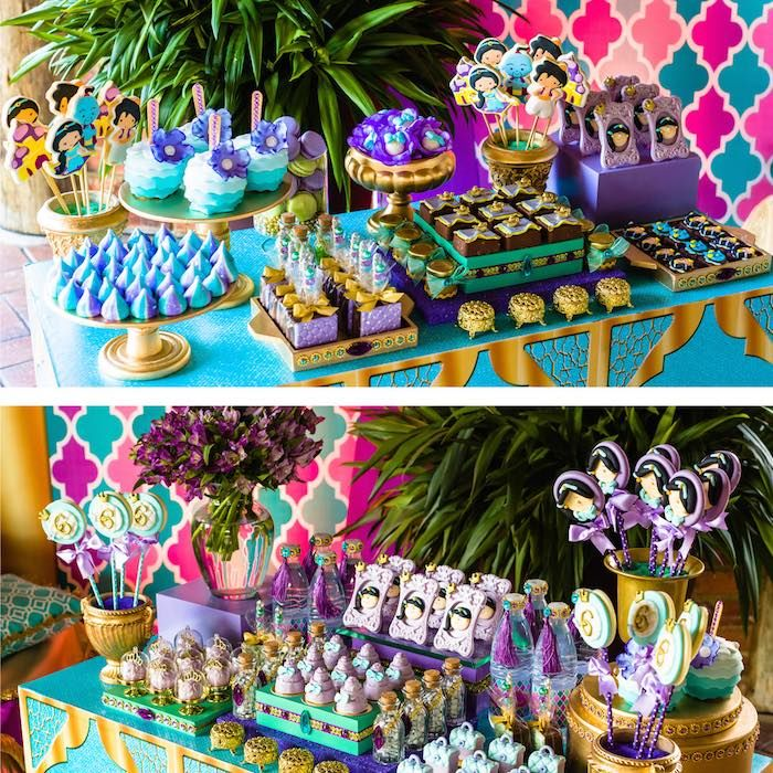 Dessert Table From A Princess Jasmine Birthday Party Via Karas Ideas KarasPartyIdeas
