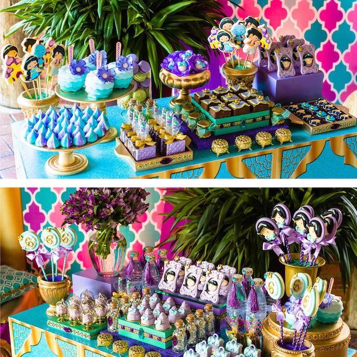 Dessert Table from a Princess Jasmine Birthday Party via Kara's Party Ideas KarasPartyIdeas.com (9)