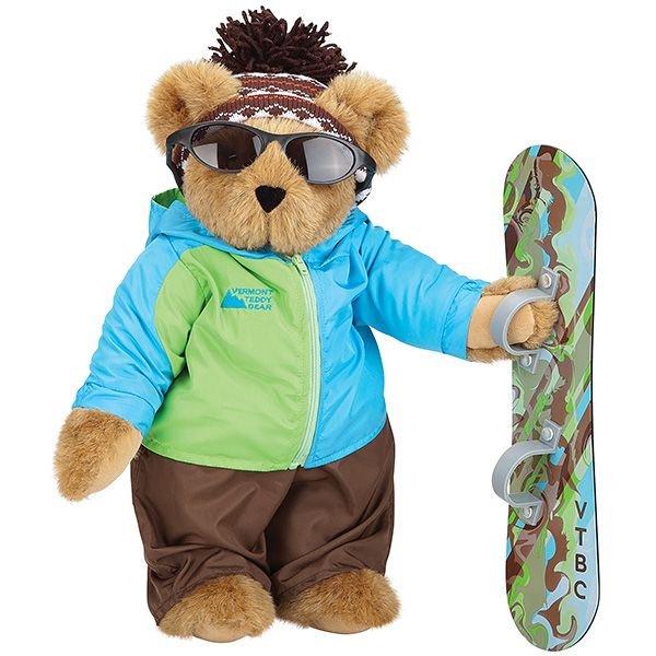 "15"" Snowboarder Bear 