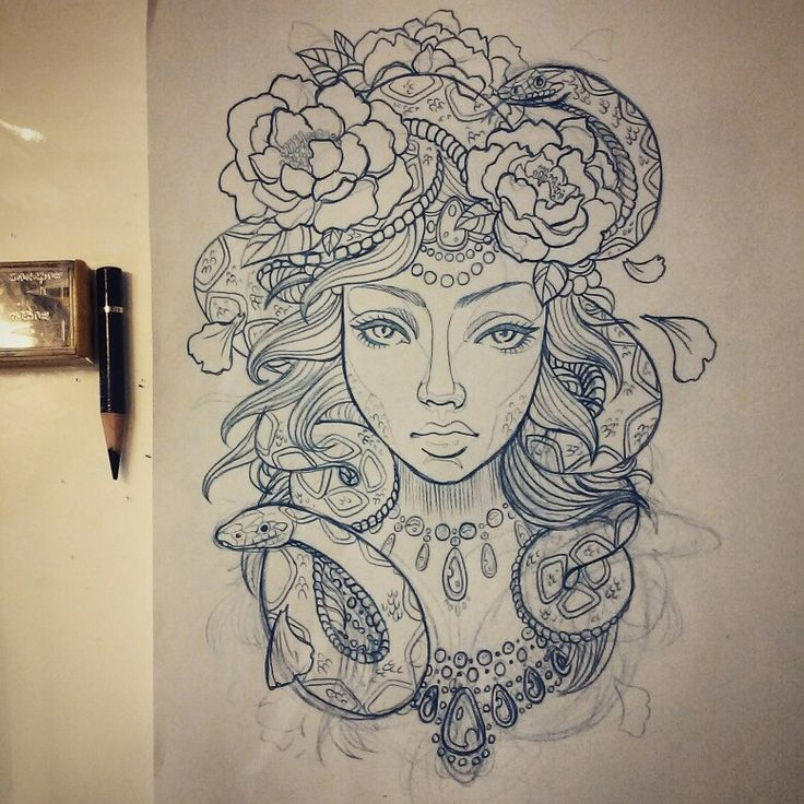 Alex PrettyHouse - Medusa Tattoo Design