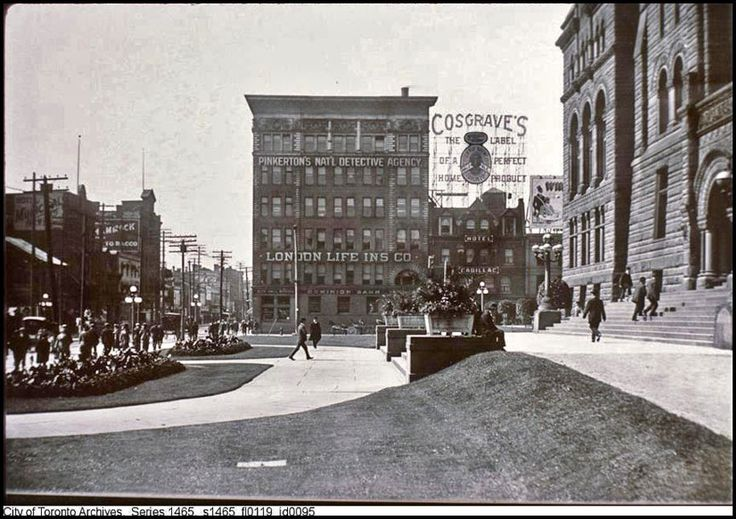 Before Nathan Phillips Square and cenotaph (1905).