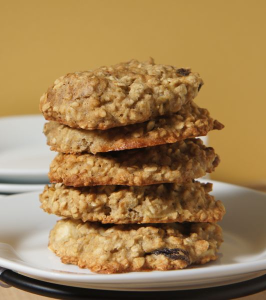 These #glutenfree Apple, Raisin, and Oatmeal Cookies could almost be considered a healthy #AfterSchoolSnack. Substitute Quinoa Flakes for Oatmeal to up the nutrition!