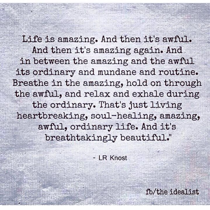 Amazing Life Quotes Images: Life Is Amazing. And Then It's Awful. And Then It's