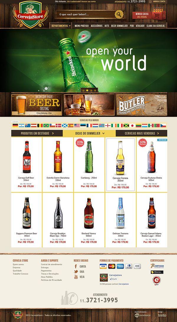 Cerveja Store - #eCommerce website sample