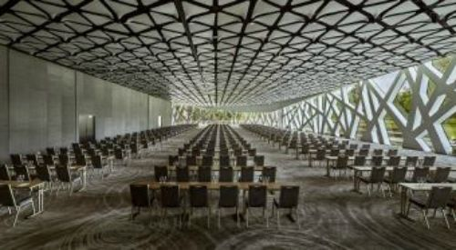 Modern conference centre on the outskirts of Warsaw, Poland