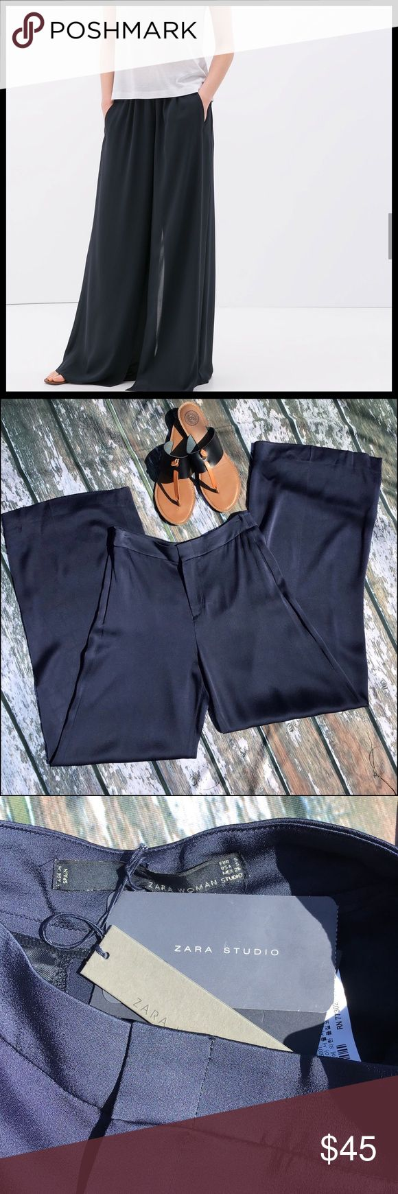 158 Best My Posh Closet Images On Pinterest Elaine Navy Top Leux Studio Xs Zara Palazzo Pant Nwt Small