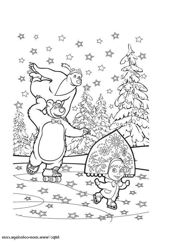 Coloriage Masha Et Michka Noel : coloriage, masha, michka, Coloriage, Masha, Michka, Preschool, Activities,, Character
