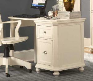 White Computer Desk With File Drawer