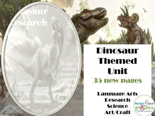 Dinosaur Themed Language Arts and Research Unit of Work