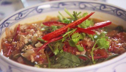 Vietnamese rijstnoedelsoep