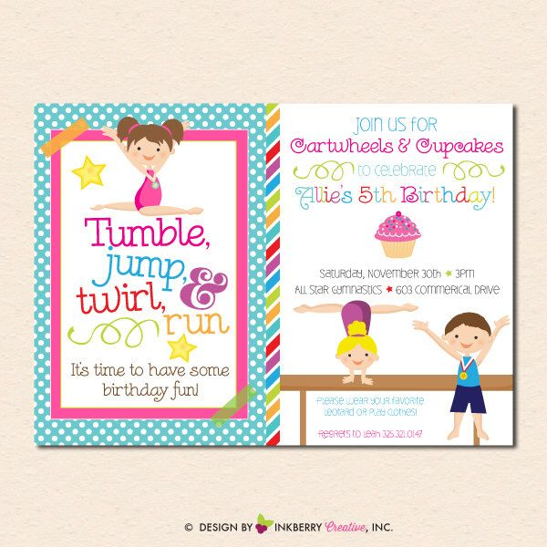 1000+ Ideas About Gymnastics Birthday Parties On Pinterest