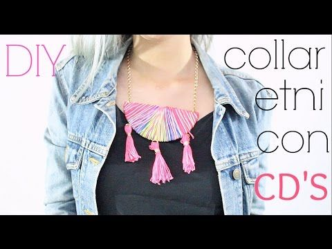 DIY collar étnico con cd's