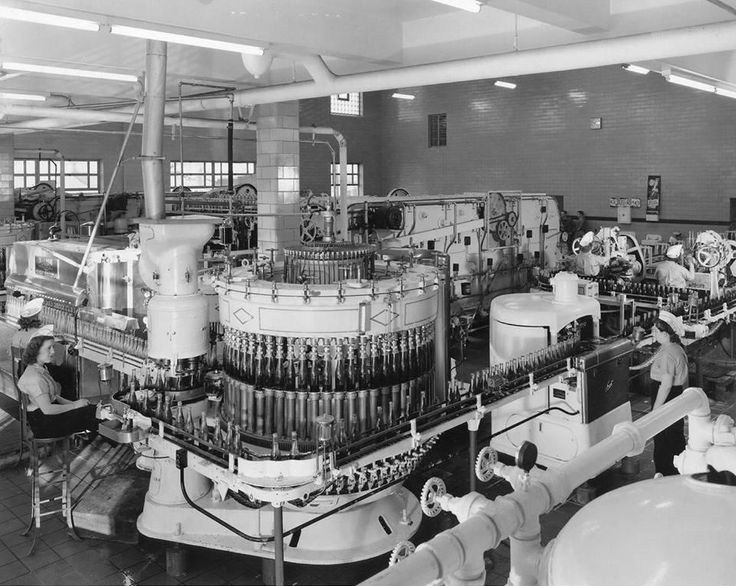Pepsi factory in Baltimore, MD, USA (1956).