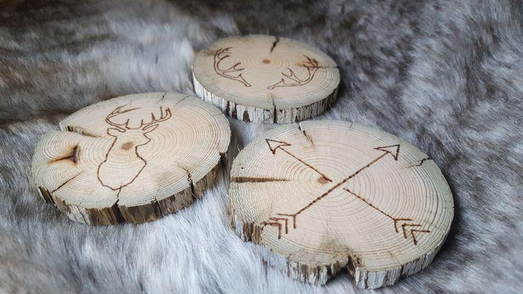 Rustic Burned Reclaimed Wooden Coasters by RaggedyRenaAnn on Etsy https://www.etsy.com/ca/listing/483479126/rustic-burned-reclaimed-wooden-coasters