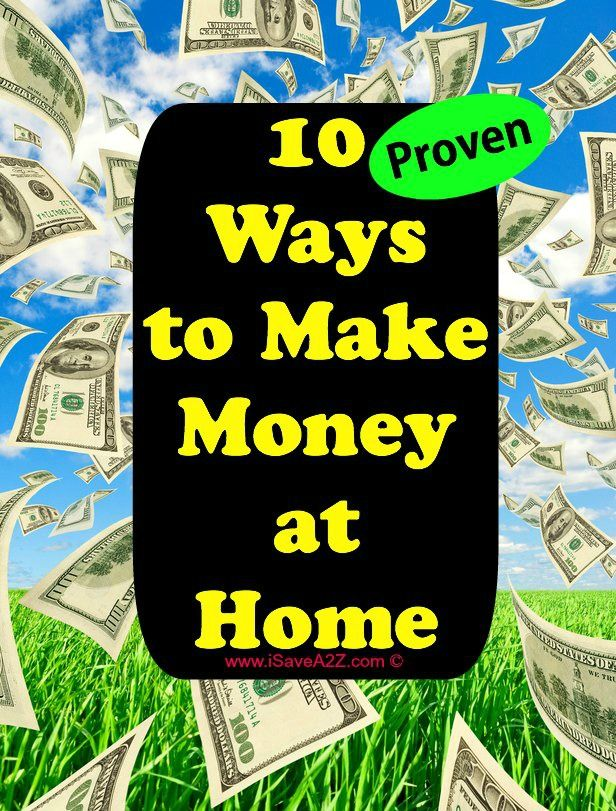 10 Ways to make Money at Home - I did this to stay home when my babies were little.  It's a great way to pull in extra cash!  IT WORKS!  and it's easy!