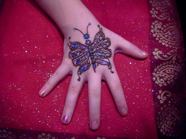 butterfly mehendi designs pattern for kids