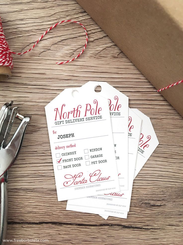 Add some Christmas magic with these adorable FREE Santa Gift Tag Printables for those Christmas gifts coming straight from Santa's Workshop and the North Pole