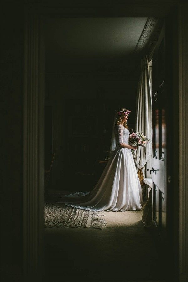 """Bridal Portrait by Samuel Docker Photography."" Inspiration board by Gwendolyn-Mary.com, bringing scent and music together to create exquisite fragrance."