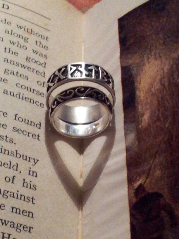 Our silver wedding rings.