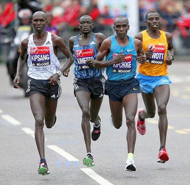 The 2017 Virgin London Marathon Official online ballot results are coming soon! . In the picture the fantastic four of the marathon world Kipsang Kinetto Kipchoge Biwott leading the London Marathon in 2015 . Missing from the picture is the super runner and winner of 2016 Berlin Marathon Ethiopia's Bekele . . . Follow us use hashtag #wonderfulrunning and join the movement . . . . . London Marathon
