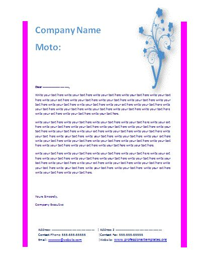 78 Best ideas about Free Letterhead Templates – Business Letter Heading Template