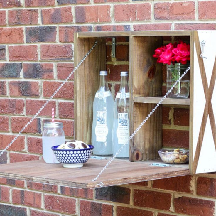 Grab your tools and make this simple DIY wall mounted serving station. Use if for serving, crafts, family communication or more!