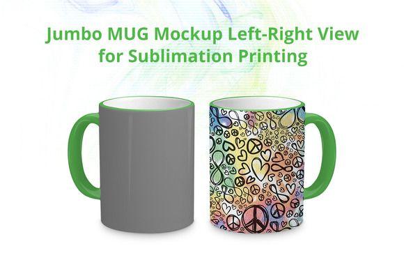Jumbo Mug Mock-up by VecRas on @creativemarket