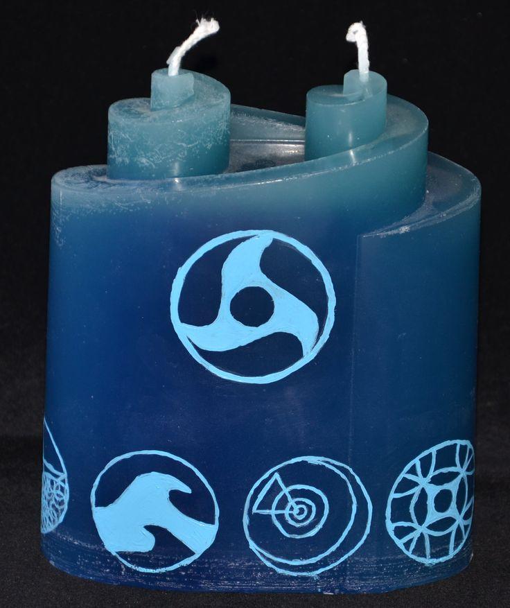 Kerze für den condrianischen Gott Hydracor und seine Töchter fürs LARP