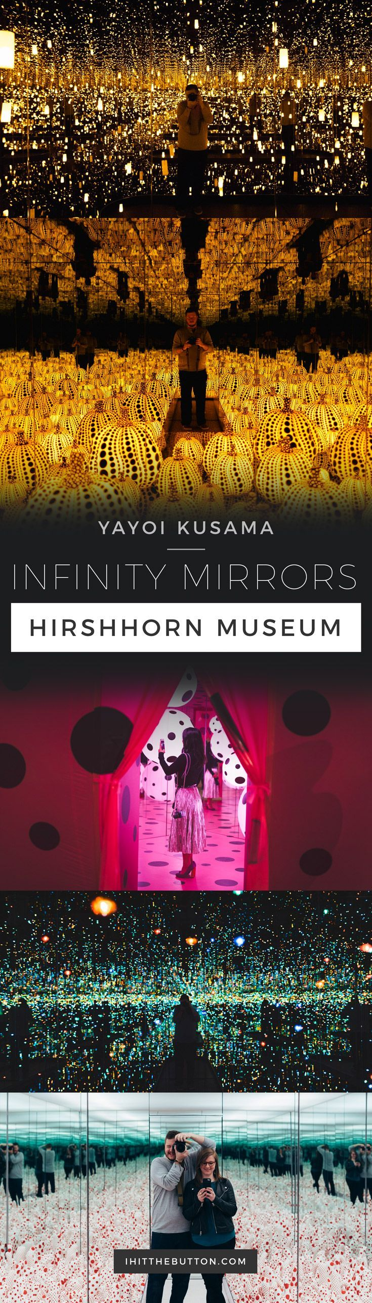 Yayoi Kusama Infinity Mirrors at the Hirshhorn in Washington DC // http://ihitthebutton.com