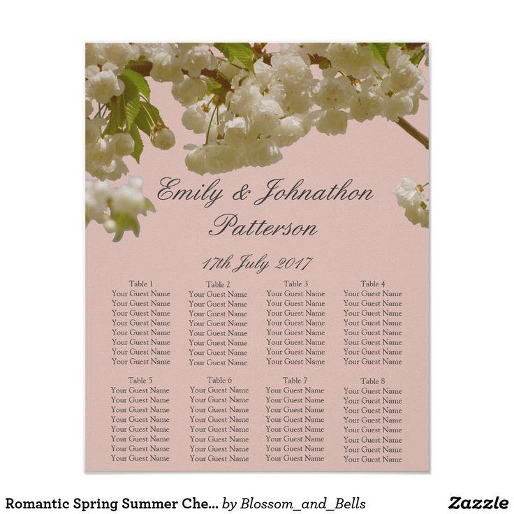 Romantic Spring Summer Cherry Blossom Wedding