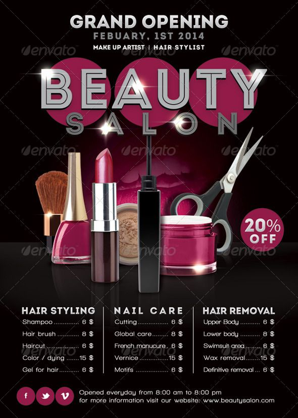 Flyer Beauty Salon Opening Promoting - Commerce Flyers