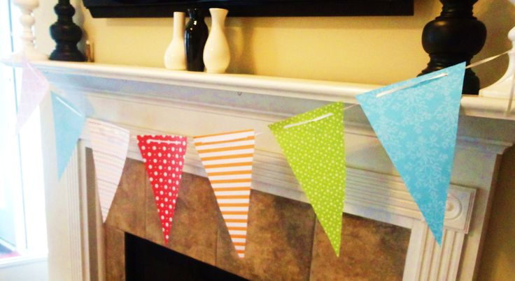 DIY pennant banner template - Flairy Tales Silver Award Project - pennant banner template