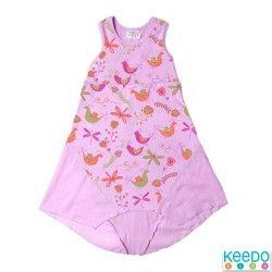 Funky Birdie Dress (Lilac)
