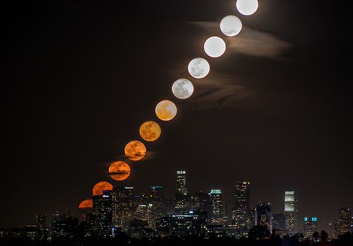 Moon Rise Time Slice…. this is a collage of 11 photos taken over 27 minutes and 59 seconds