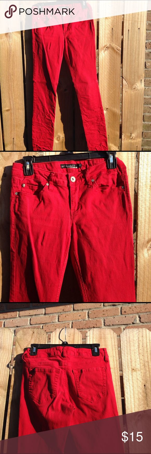 Blood red skinny jeans Blood red skinny jeans from hot topic Jeans Skinny