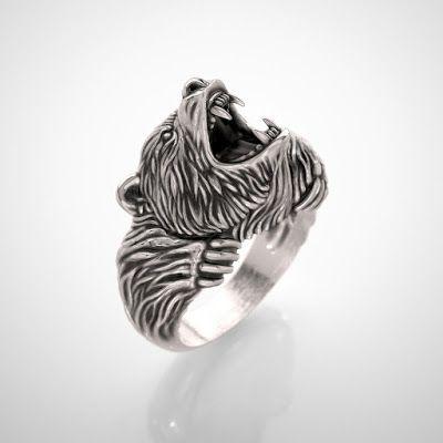 ISArt.Studio jewelry design: Men's bear ring