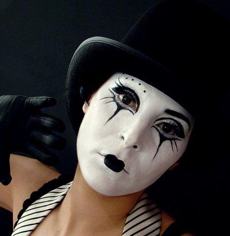 maquillaje de mimo casero                                                                                                                                                                                 Más