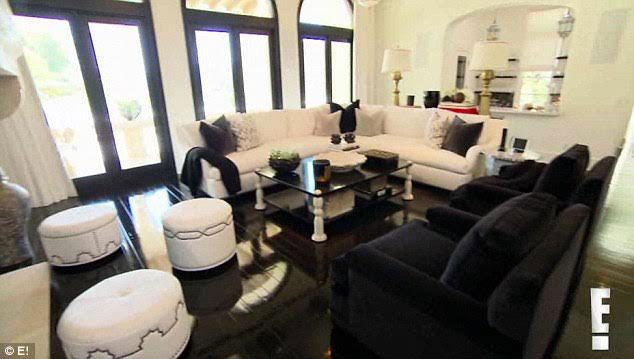 Khloe kardashian new house renovations google search Kourtney kardashian living room curtains
